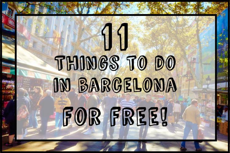 11 free things BCN