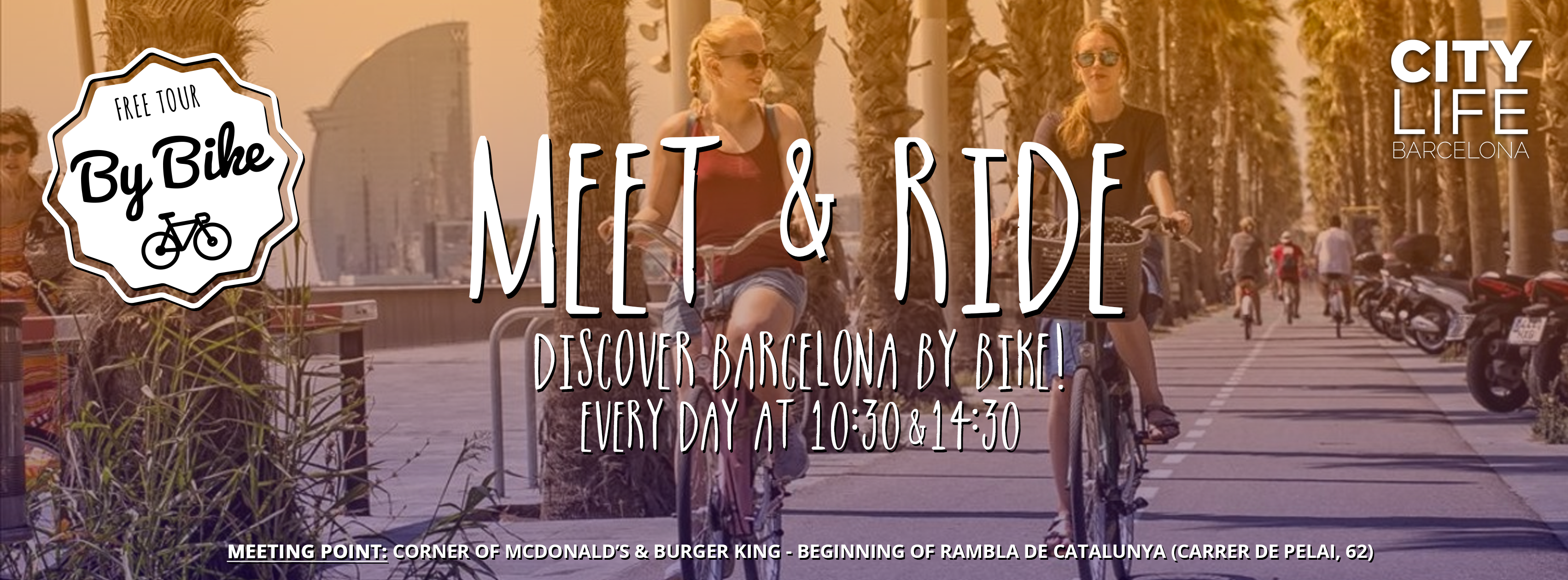 MEET & RIDE – Discover Barcelona with our free Bike Tour!