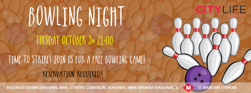 BOWLING NIGHT: Time to strike again - Join our FREE Activity!