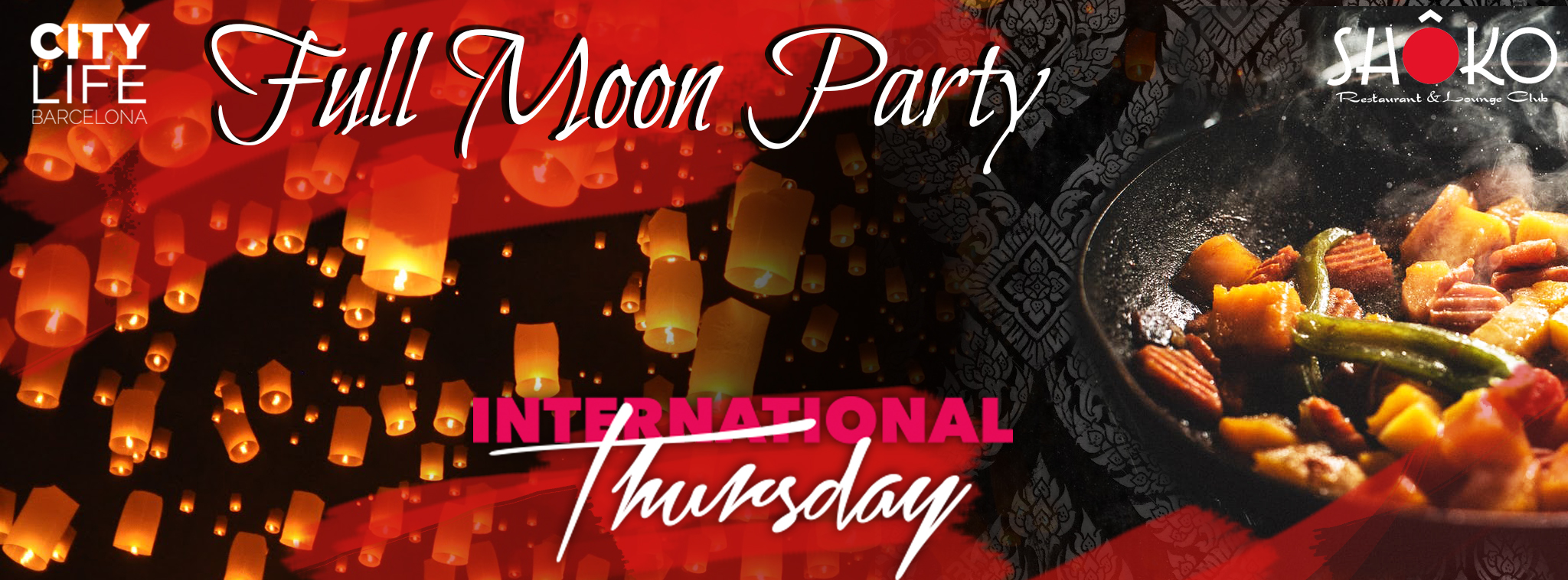 Full Moon Party – Free Dinner, 3 Free Drinks & Party! @Shoko Club!