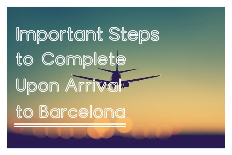 IMportant steps bcn