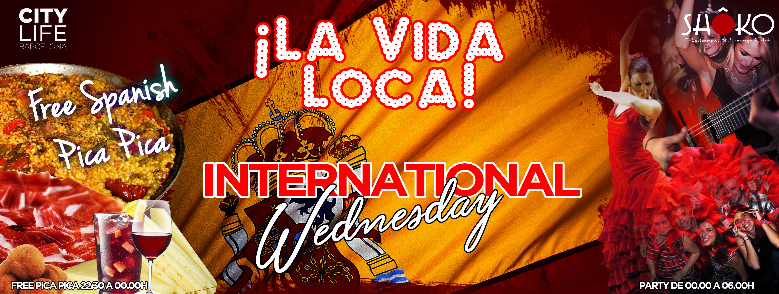 La Vida Loca – Free Dinner, Open Bar & Party! @Shoko Lounge Club!