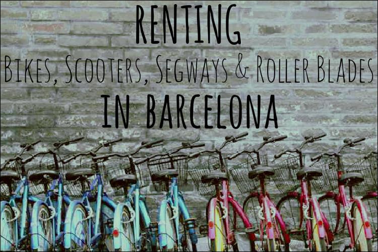 renting bikes in barcelona